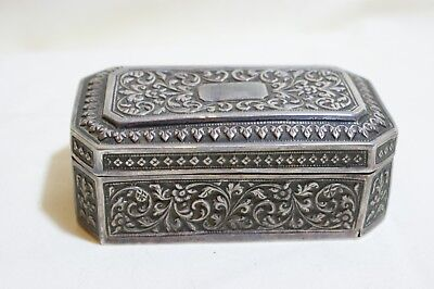 Vintage Silver Plated Small Chased Box