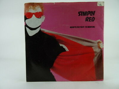 "SIMPLY RED, MONEYS TOO TIGHT (TO MENTION) (3), VG/EX, 2 Track, 7"" Single, Pictur"