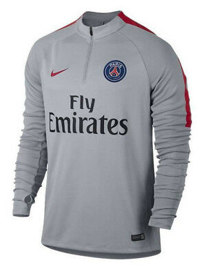 Nike Paris Saint-Germain PSG Squad Drill Top Training Grey Size S 809738 013