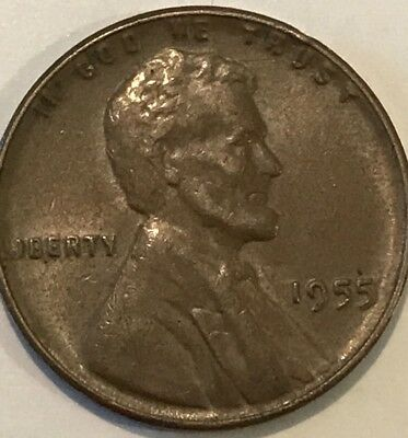 1955 DOUBLE DIE LINCOLN WHEAT CENT PENNY DDO Poor Mans Double Die 1955/5 P