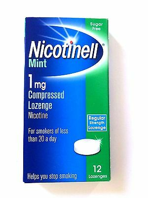 Nicotinell Mint 1mg Compressed Sugar Free Lozenges - 12 Pack