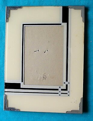 Vintage ART DECO Reverse Painted PICTURE FRAME for 3 X 5 Picture & Easel Back