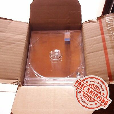 6 CD DVD Standard Jewel Box Cases Crystal Clear with Security Tapes