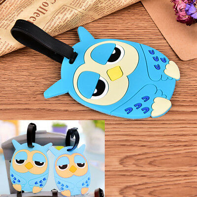 Owl Suitcase Luggage Tags Name Address ID Address Holder Silicone Bag Label ZP