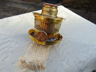 Aladdin Lamp Burner Brass 23 Kerosene Oil NOS NW OLD STOCK UNUSED