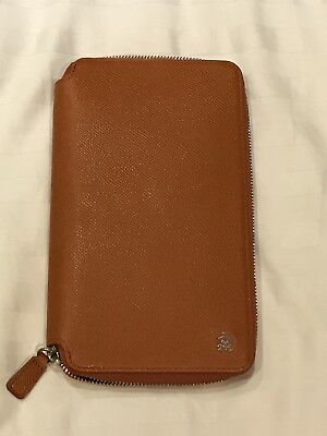 Dunhill Orange Passport/card/coin/wallet; organizer.