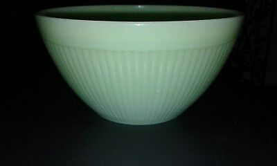 "Anchor Hocking Fie-King Jadite Jadeite 7 1/2"" ribbed kitchen bowl MINT"