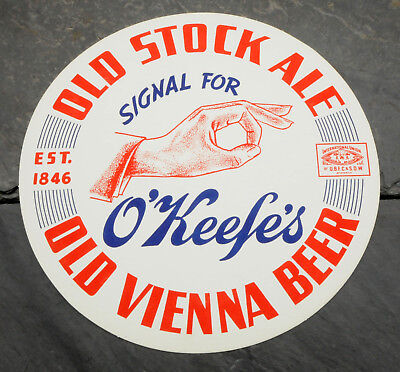 1940's O'keefe's Old Vienna Canadian Beer Advertising Serving Tray Liner/Mat