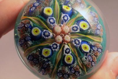 Wonderful Italian / Scottish Millefiori And Twist Cane Paperweight - Perfect
