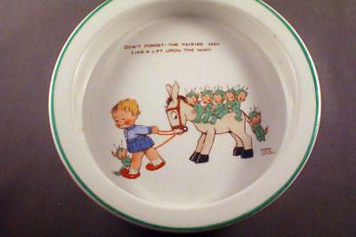 Very Sweet Shelley Mabel Lucie Attwell Nursery Ware Bowl - Perfect