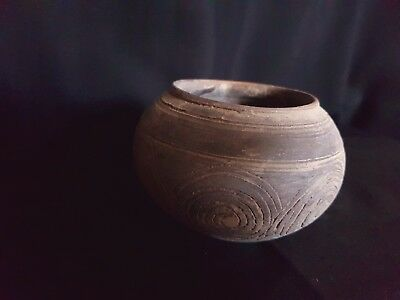 Ancient - Viking Clay Cup. Large Norse Pot, circa 650 - 700  AD.