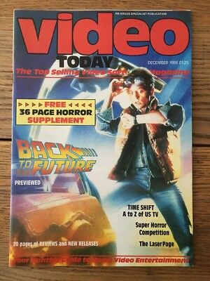 Video Today Magazine December '86 Back To The Future, Richard Chamberlain