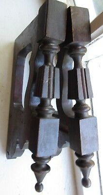 Pair Antique Wood Corbel Furniture Salvage Decorative Shelf Support Cabinet Part