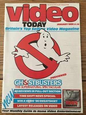 Video Today Magazine January '86 Ghostbusters, A Passage To India, BMX Bandits