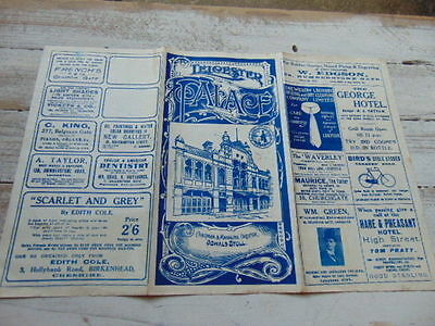 Original 1915 Leicester Palace Theatre Program Belgrave Gate Raleigh Bicycle