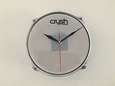 """8"""" Mini Snare Drum Clock For the Drummer's Drum Room Ideal Christmas Gift"""