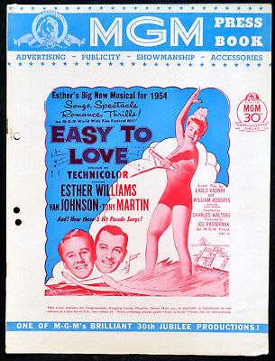 EASY TO LOVE 1953 Esther Williams, Van Johnson, Tony Martin UK PRESSBOOK