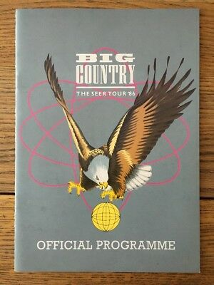 Big Country - The Seer Tour 1986 - Official Programme/Program