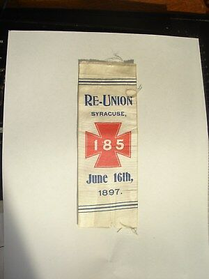185th New York Volunteer Infantry 1897 Reunion Ribbon - Last One I have