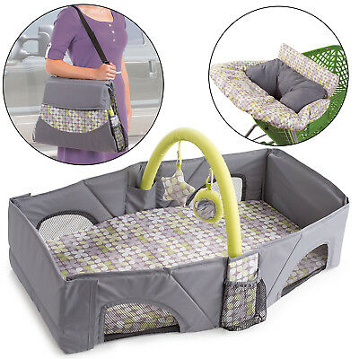 By Your Side Sleeper Soft Comfortable Nylon Infant Travel Bed with Removable Pad