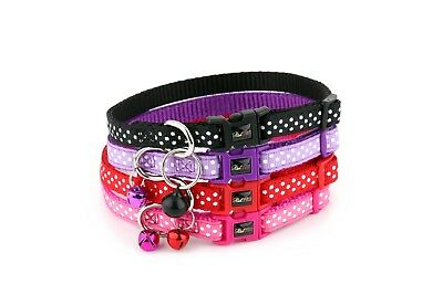 Polka Dot Cat Collar - Spotti by RichPaw - Safety Breakaway Buckle - 4 Colours