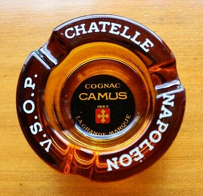 Retro Chatelle Napoleon V.S.O.P. COGNAC Camus Ashtray