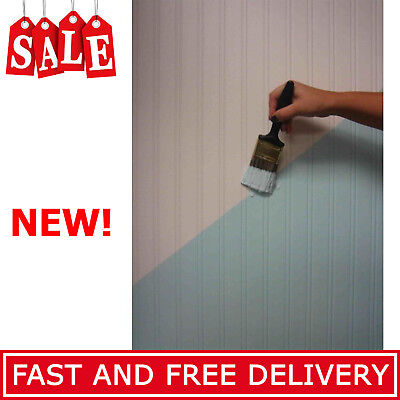 Beadboard Paintable Wallpaper White Design Double Roll Textured Wallpapers New