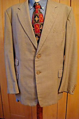 Vintage Mens Suit, Dog Tooth 40'' Chest