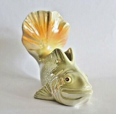 Vintage Set Of Australian Pottery Wembley Ware Goldfish With Lustre Glazes