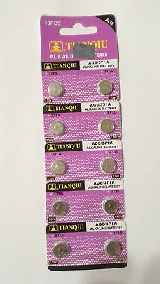 10 Pack AG6 LR69 371 LR921 1.5V Alkaline Battery Watch
