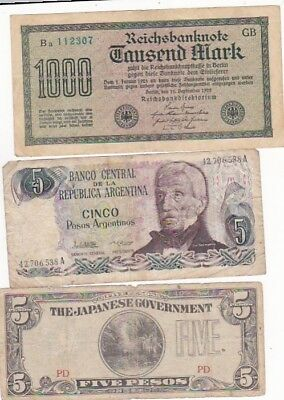 7 1922-2009 Circulated Notes From All Over