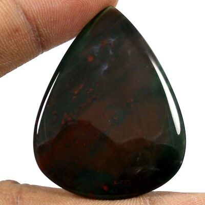 47.75ct Exclusive Designer Natural Bloodstone Loose Gemstone Pear Shape Cabochon