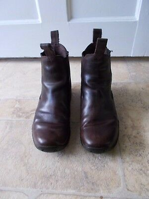 OLDER CHILD/SMALL ADULT BROWN TAURUS JODHPUR BOOTS size 6