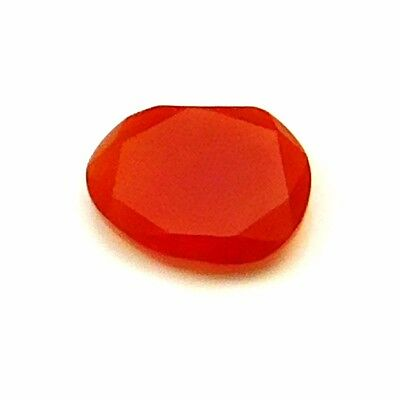 6.30 cts 100% Natural Carnelian Fancy Shape Both side Faceted Loose Gemstone