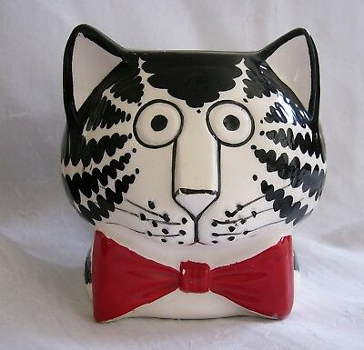 Vintage KLIBAN CAT Face, Red Bowtie MUG by Sigma the Tastesetter w paper label