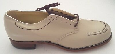 Drew Shoes Rover Women's Beige Leather Casual Lace Up Shoes Size 9