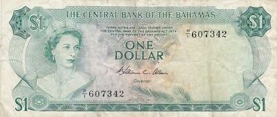 1974 Bahamas $ Note, Pick 35b