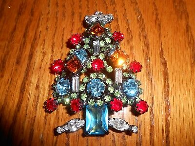 RR Headlight Candle Multi Crystal Light Blue & Peridot Christmas Tree Robyn Rush