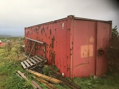Red Storage Container 20ft x 8ft