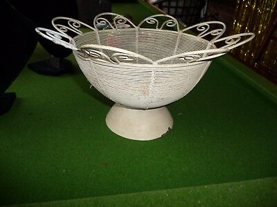 metal bowl table decor or pot plant holder
