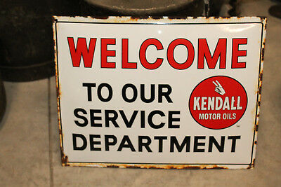 KENDELL motor oil porcelain Dealer sign vintage style gas station Advertising