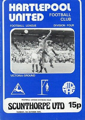 Hartlepool V Scunthorpe  4Th Division  9/10/1979