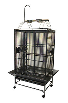 "32x23"" Play Top Parrot Cage with Toy Hanger for Bird Parrot Amazon Grey Cockatoo"