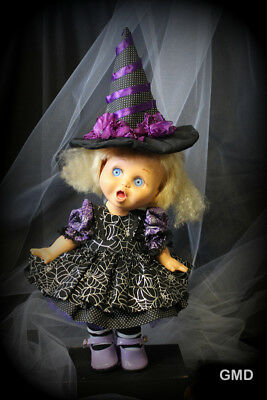 Galoob Baby Face doll Halloween Web Dress w/Pinafore, Petticoat, Panties and Hat
