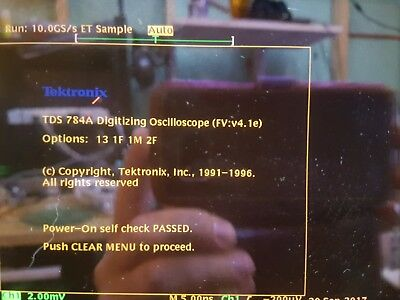 Tektronix TDS754A Upgraded to TDS784A Oscilloscope 1GHz 4GS/s 13 1F 1M 2F
