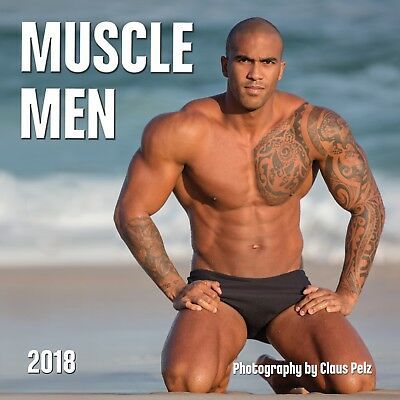 Muscle Men 2018 Wall Calendar Hot Guy Sexy Man Strong Model Body Abs Pinup