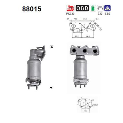 Catalytic Converter - AS 88015