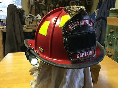 The Original Firemens Firefighters Helmet Flashlight / Light