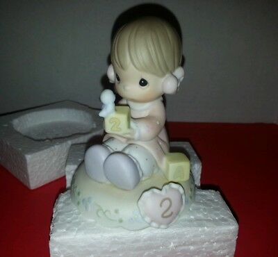 "Precious Moments ""Age 2"" Growing In Grace by Enesco 136212B with box"