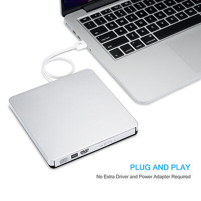 USB CD/DVD-RW Writer Burner External Hard Drive for PC Laptop Mac Macbook Pro
